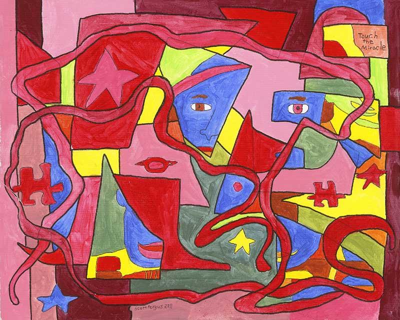 Broken Face Abstract