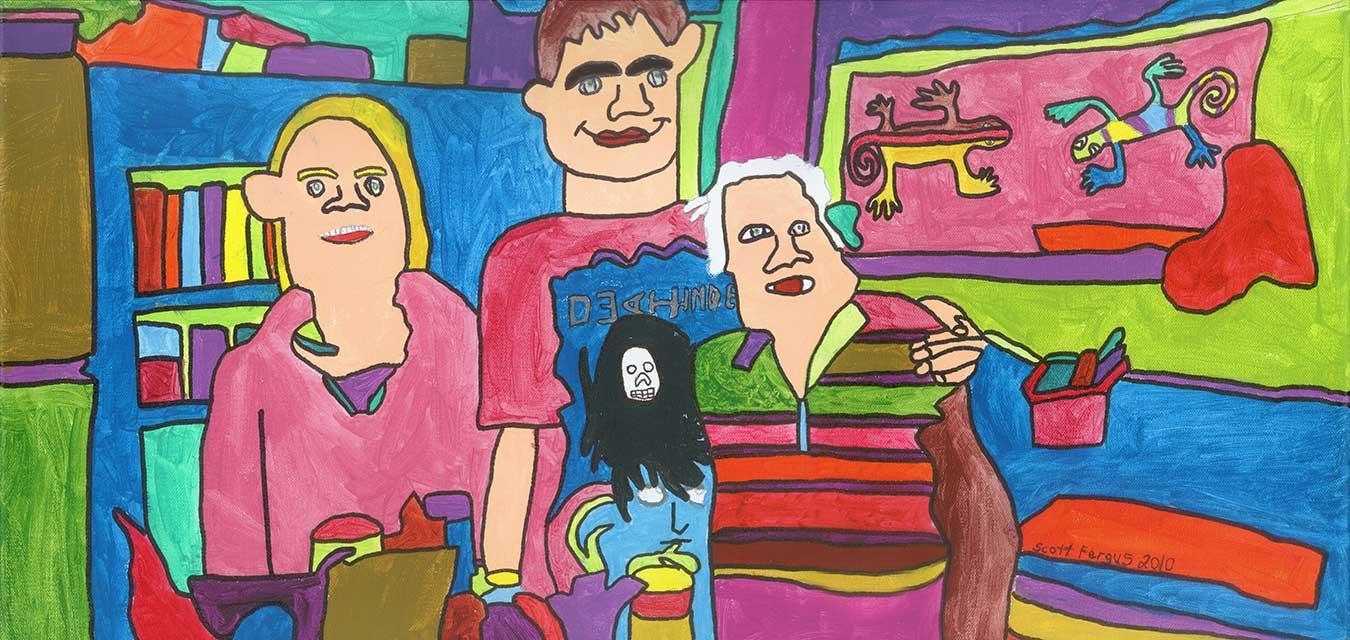 Family Portrait - Kids and Grandma