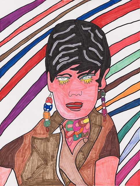 Girl with Dangly Earrings