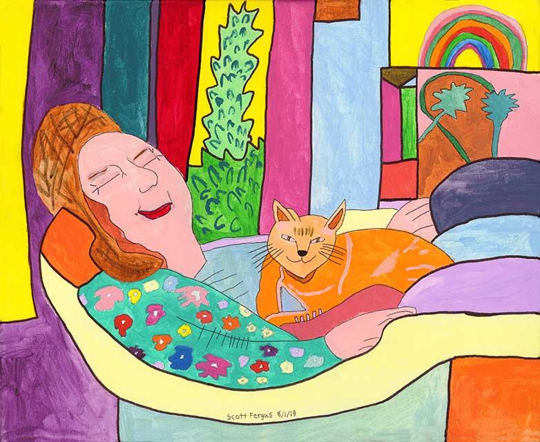Irene with Cat