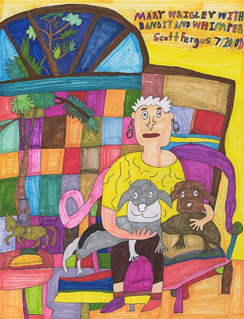 Mary with Bandit And Whimper