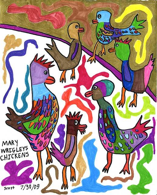 Mary Wrigley's Chickens
