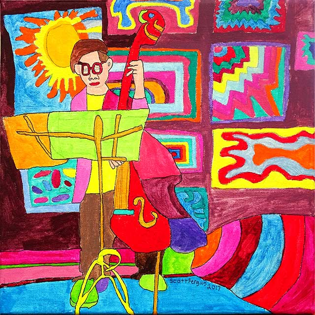 Musician At Absolute Gallery
