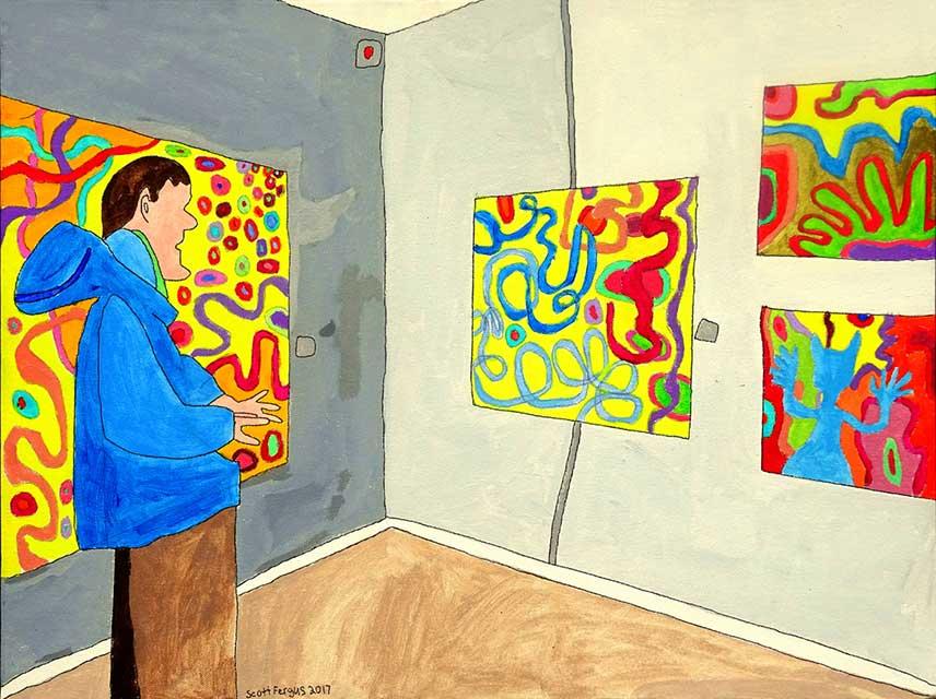 Scott at Lansing Art Gallery