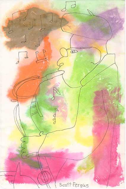 Watercolor Musician