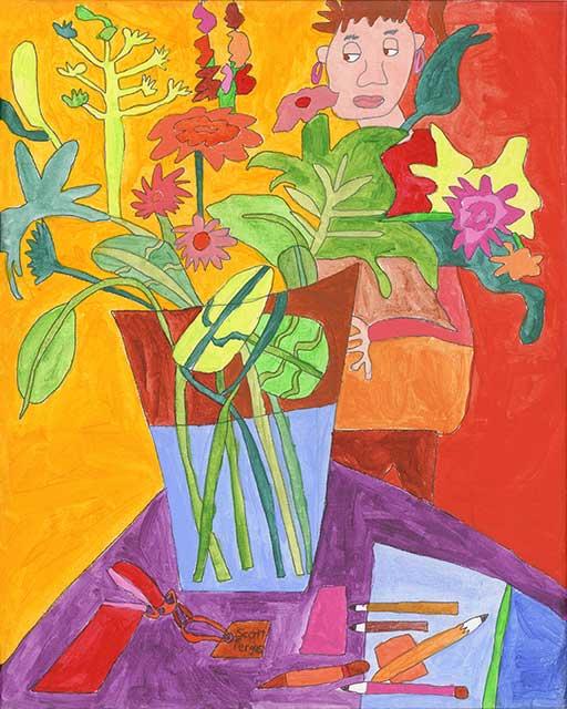 Zane with Flowers